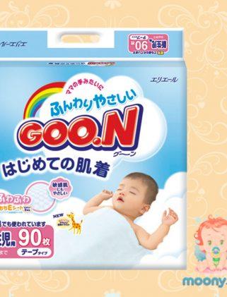 Японские подгузники GOO.N (NB) 0-5 кг. 90 шт., для новорожденных