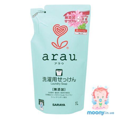 Жидкость для стирки одежды Arau с геранью 1л наполнитель