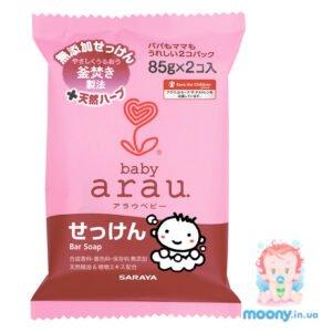 Купить мыло для купания малышей Arau Baby Bar Soap 85 гр x 2 шт недорого в Украине