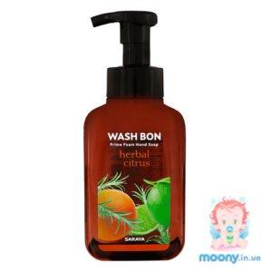 Пена-мыло для рук Wash Bon с ароматом цитрусов, с помпой, 500 мл