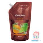 Купить пену-мыло для рук Wash Bon с ароматом цитрусов, наполнитель, 500 мл