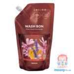 Купить пену-мыло для рук Wash Bon с ароматом цветов 500 мл, наполнитель