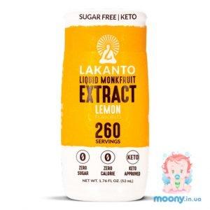Купити рідкий підсолоджувач Lakanto Liquid Monkfruit Lemon, 52 мл, недорого в Києві та Україні